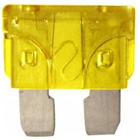 20 Amp Yellow Blade Fuses Pk of 3