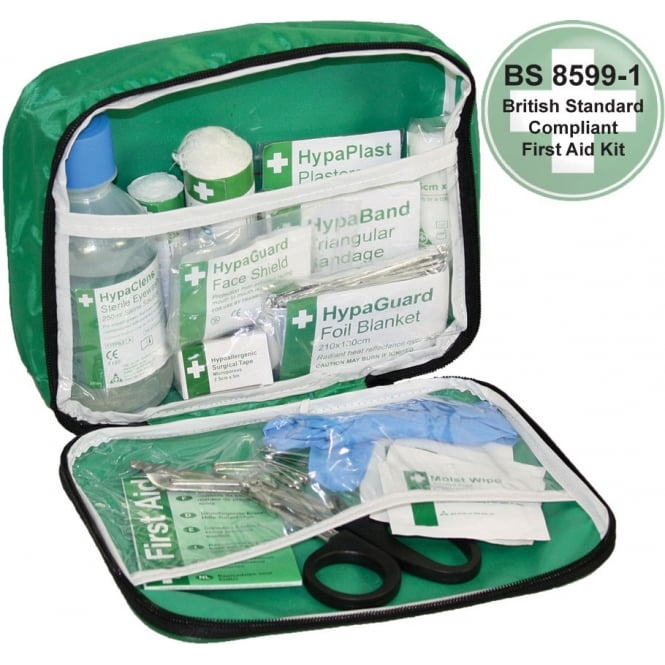 British Standard Compliant Travel First Aid Kit In Nylon Case