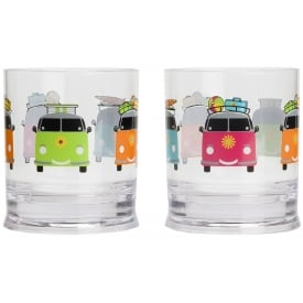 Camper Smiles Short Tumbler Glasses (Pack of 2)