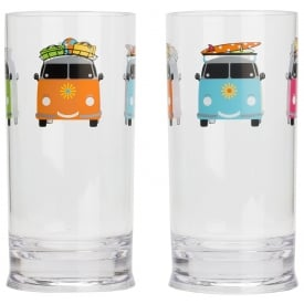 Camper Smiles Tall Tumbler Glasses (Pack of 2)
