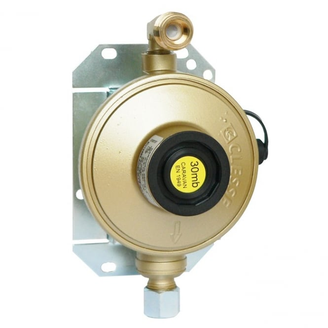 Caravan Regulator 30mb 1.5kg Angled Inlet