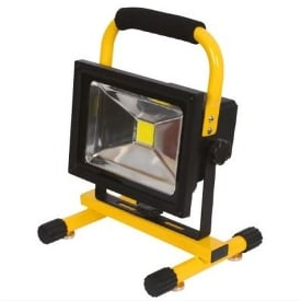 10W Rechargeable Magnetic LED Flood Light With 2 Batteries