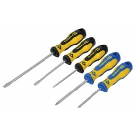 5 Piece Screwdriver Set - Slotted/PZD