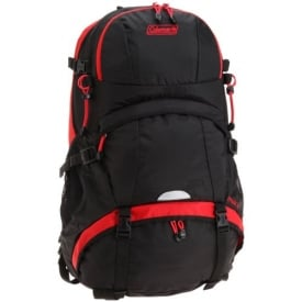 Coleman Peak Backpack - Black/Red 35L