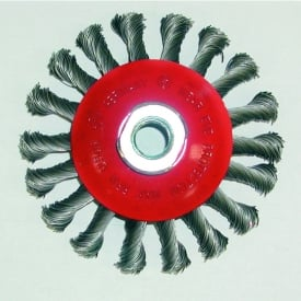 100mm Heavy Duty Tapered Wire Brush Wheel