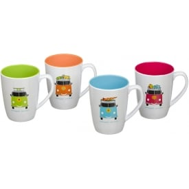 Flamefield Camper Smiles Melamine Mug Set (Pack of 4)