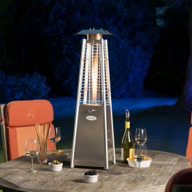 Chantico Stainless Steel Table Top Flame Heater