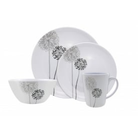 Monochrome Design Melamine 16pc Boxed Set