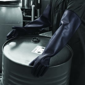 Chemprotec Heavyweight Unlined Natural Rubber Gloves