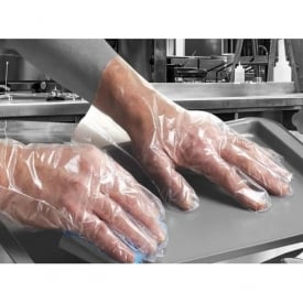 Digit Clear Polythene Powder Free Disposable Gloves Per/100