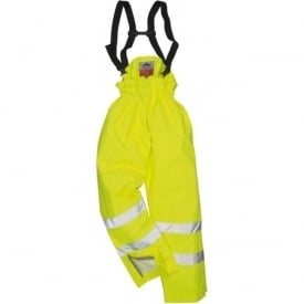 Bizflame Rain Unlined - Hi-Vis Anti static FR Trouser
