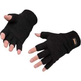 Fingerless Knit Insulatex Gloves