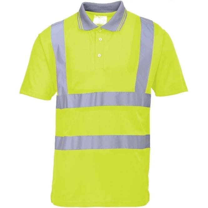 Portwest Hi-Vis Short Sleeve Polo