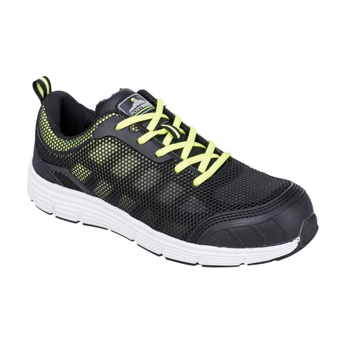 Portwest Steelite Tove Trainer S1P - Black/Green