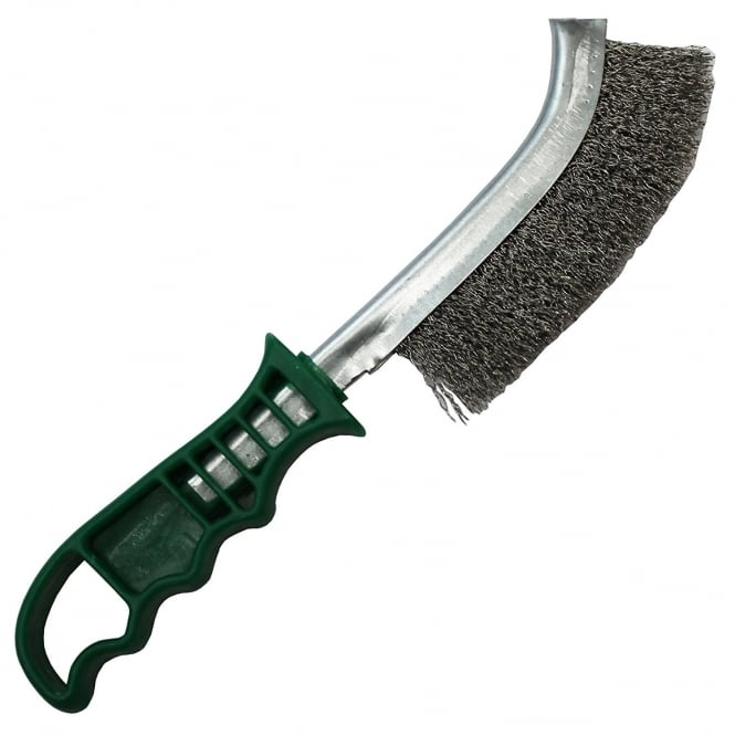 SWP Stainless Steel Green Handle Wire Brush